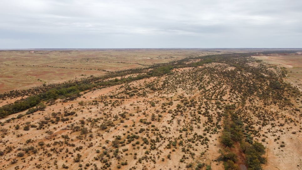 A view of Evelyn Downs Station a bio diversity farm, North of Coober Pedy in South Australia's far north.