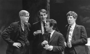 Jonathan Miller, right, in Beyond the Fringe, with, from left: Alan Bennett, Peter Cook and Dudley Moore.