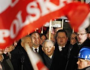 Jarosław Kaczyński, leader of Poland's ruling Law and Justice party.