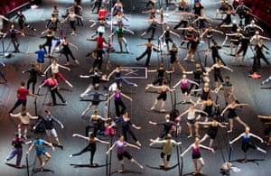 Ballet dancers in rehearsal.