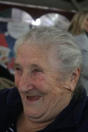 Older woman laughing