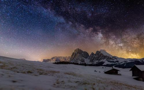 YOUNG ASTRONOMY PHOTOGRAPHER OF THE YEAR: Milky Way above Alpe di Siusi/Dolomites © Fabian Dalpiaz (Italy – aged 15) – HIGHLY COMMENDED