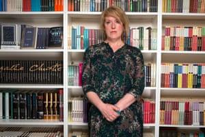Sarah Phelps, photographed in Drury Lane , London.