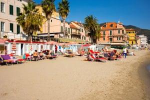 Alassio beach.