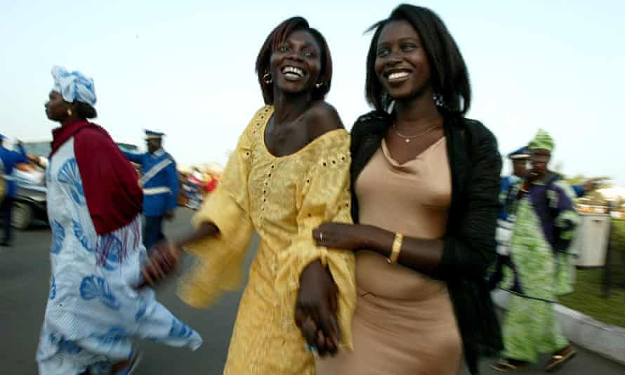 Senegalese women at an African gender summit, May 2005.
