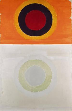Orange and White Painting, 1960, Michael Kidner