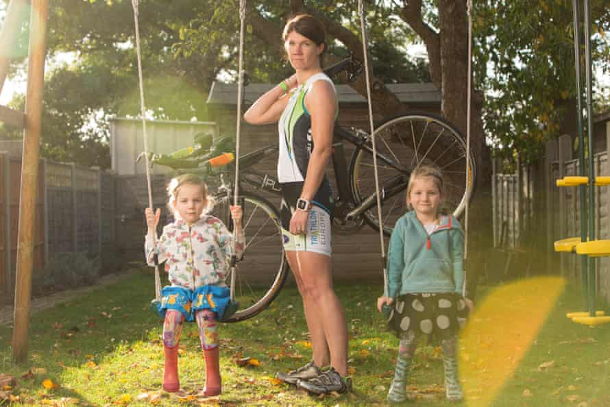 Zoe Catchpole and her daughters