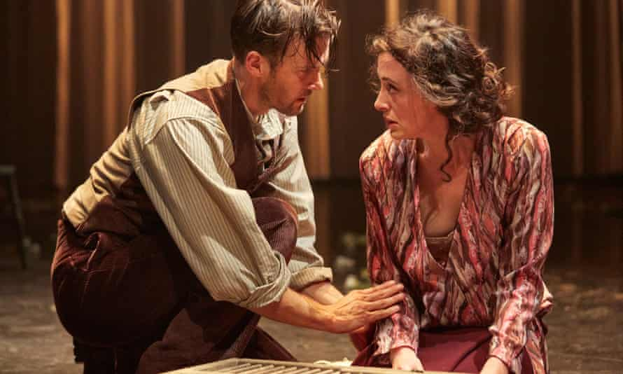 Try a little tenderness … Jonah Russell (Mellors) and Hedydd Dylan (Constance) in Lady Chatterley's Lover.