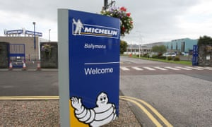 Michelin says it will 'run down' the tyre manufacturing plant in Northern Ireland by mid-2018.