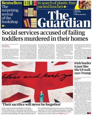 Guardian front page, Thursday 6 June 2019