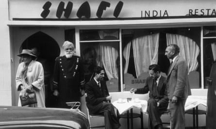 An Indian restaurant in London in 1955.