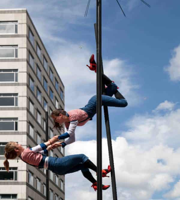 Vicki Amedume's aerial dance company Upswing.