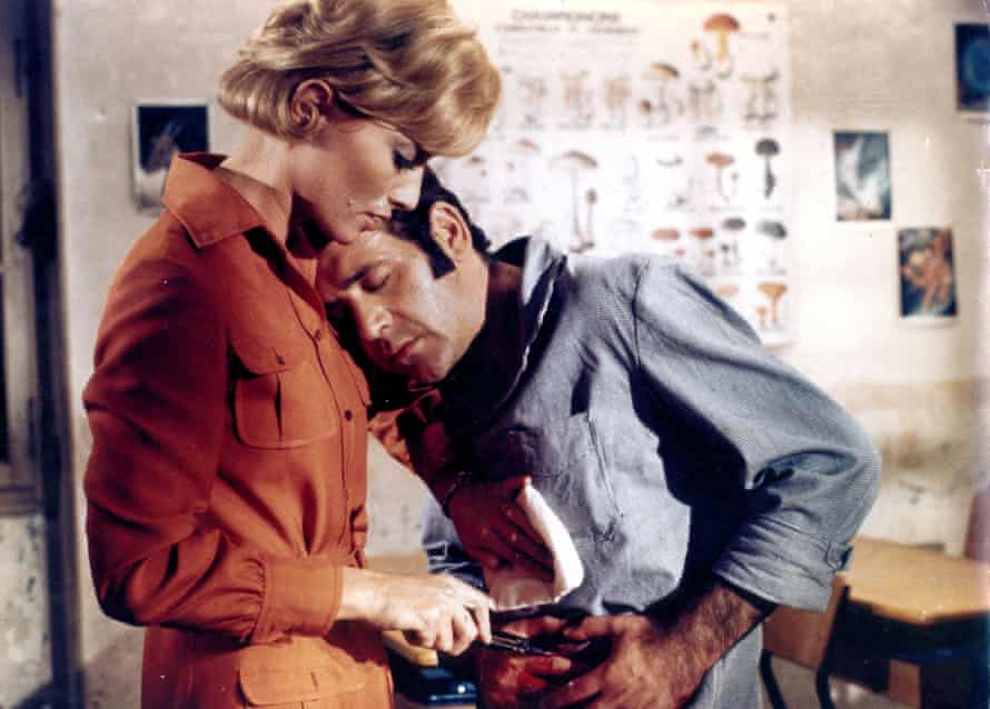 Stéphane Audran with Jean Yanne in Claude Chabrol's Le Boucher, 1970.