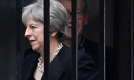 Theresa May, and her husband Philip leave 10 Downing Street