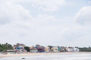The coastal town of Mahabalipuram, India.