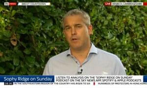 Stephen Barclay speaking on Sky News's Sophy Ridge on Sunday