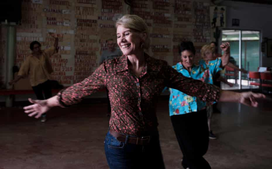 Gail Rozvaczy, 60, during a line dance class.
