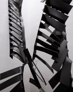 Like crumpled ribbons … Monika Sosnowska's mangled steel stairs.