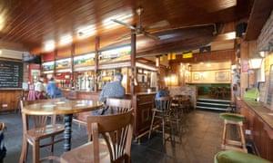 Bar at The Pilot of Mumbles.