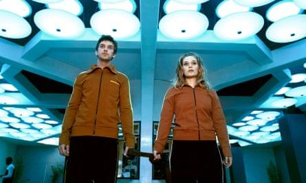 Dan Stevens as David and Rachel Keller as Syd in Legion.