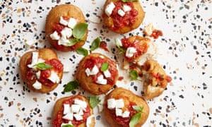 Eataly's fried mini pizzas with tomato and mozzarella.