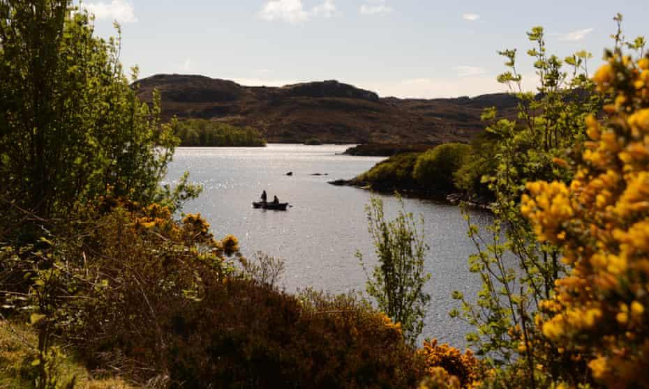 A long, narrow lake