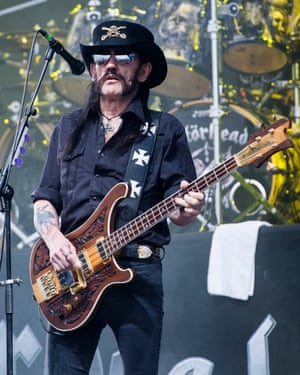 Lemmy of Motorhead performs at Glastonbury Festival in June 2015