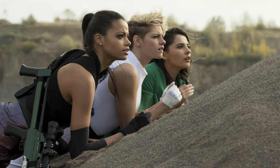 Ella Balinska, Kristen Stewart and Naomi Scott in Charlie's Angels – far less wretched a watch than so many other creatively bankrupt IP resurrections of late.