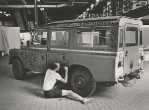 Untitled (automobile), 1983 1971 Land Rover Series III 109 Station Wagon Enamel on vehicle body