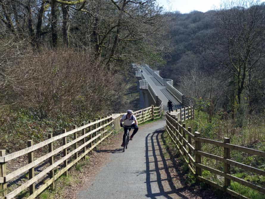 Devon's coast-to-coast trail, with Gem bridge in the background.