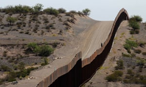 A portion of the wall on the US-Mexico border
