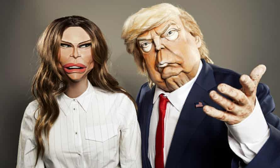 Spitting Image puppets of Melania and Donald Trump