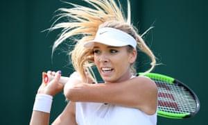 Katie Boulter at Wimbledon