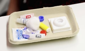 An HIV test kit.