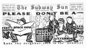 The Subway Sun NYC 1953. Artist: Amelia Opdyke Jones