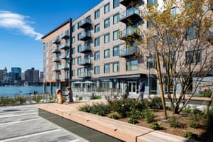 Apartments at Clippership Wharf cost about $5,500 a month for three bedrooms, with condos available to buy for as much as $1.75m.