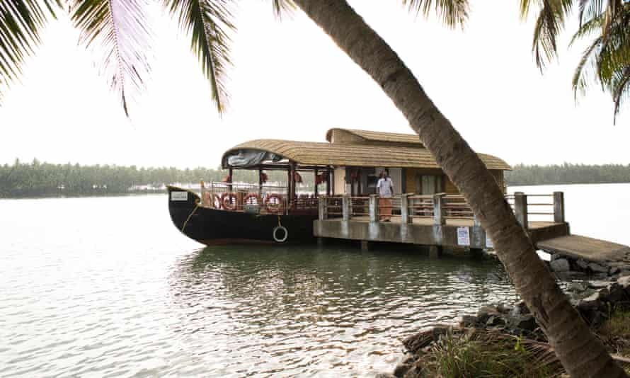 The Honey Dew houseboat on the Kerala backwaters.