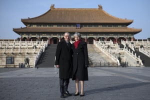 Theresa May and her husband, Philip, visit the Forbidden City.