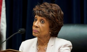 Maxine Waters, chair of the House financial services committe, listens as David Marcus of Facebook testifies.