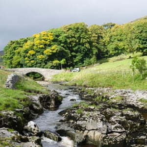 Bridge over the river Wharfe at Yockenthwaite in the Yorkshire Dales
