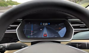 A Tesla driving on autopilot.