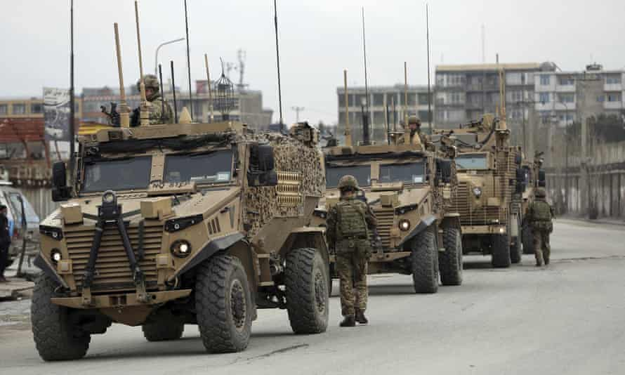 British and Nato forces in Kabul in March 2020
