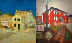 Vincent van Gogh's The Yellow House (1888); and Red Virginia Creeper (1898-1900), by Edvard Munch