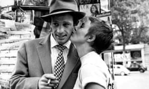 Jean-Paul Belmondo and Jean Seberg in A Bout de Souffle, 1960.