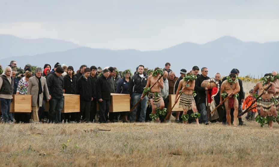 Members of the Rangitāne o Wairau tribe in New Zealand conduct a ceremony to repatriate the stolen remains of their ancestors