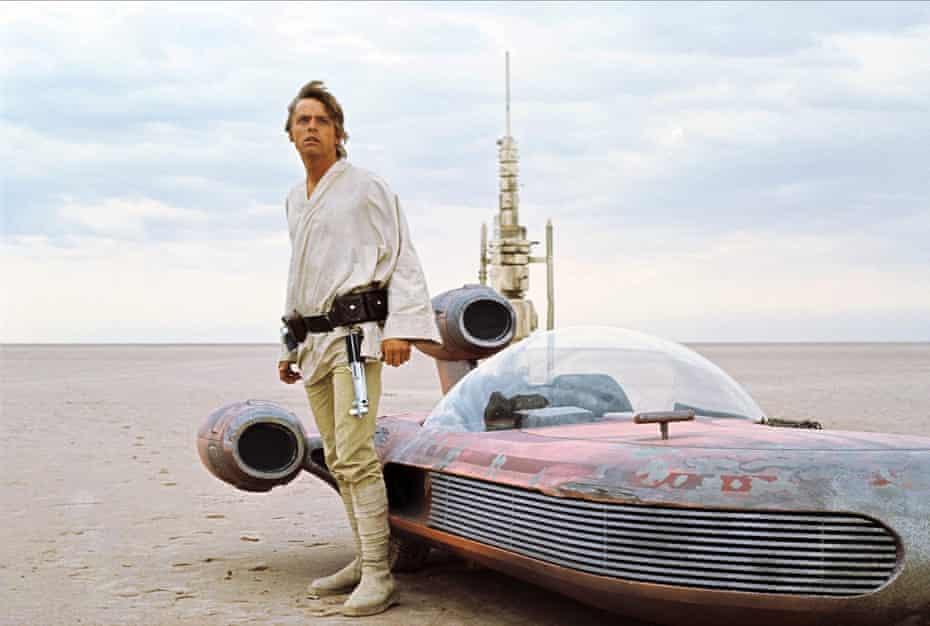 Hamill in Star Wars, 1977