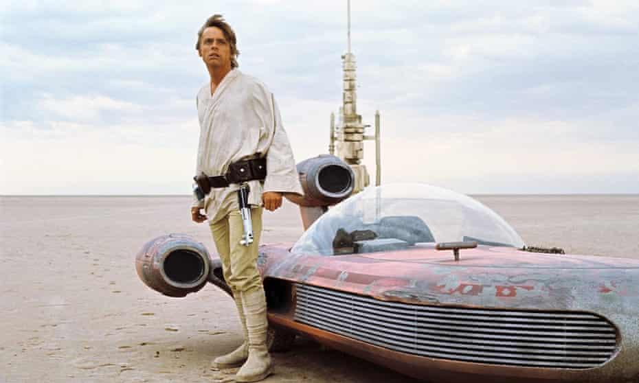 Mark Hamill as Luke Skywalker in Star Wars: Episode IV – A New Hope, released in 1977.