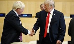 Boris Johnson and President Trump