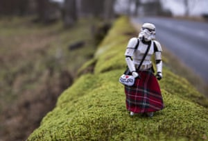 A Scottish stormtrooper enjoys his day off