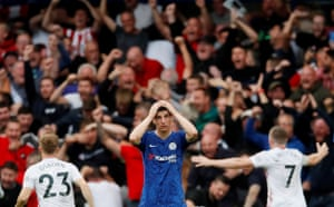 Chelsea's Mason Mount looked dejected after Sheffield United came from two goals down to earn a draw at Stamford Bridge. Tammy Abraham had netted twice in the first half but Callum Robinson's effort and Kurt Zouma's late own goal evened things up.
